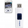 Original Integral Slide White 4GB USB 2.0 Flash Drive (INFD4GBSLDWH)