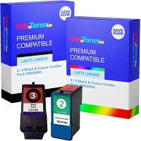 Premium Compatible Lexmark 2 / 3 Black & Colour Combo Pack Ink Cartridges (80D2962)
