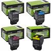 Original Lexmark 80C2S CMYK Multipack Toner Cartridges (80C2SK0/ 80C2SC0/ 80C2SM0/ 80C2SY0)