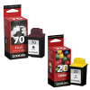 Original Lexmark 70 / 20 Black & Colour Combo Pack Ink Cartridges (12AX970E & 15MX120E)