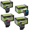 Original Lexmark 70C20 CMYK Multipack Toner Cartridges (70C20M0/ 70C20C0/ 70C20Y0/ 70C20K0)