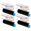 Original OKI 4464300 CMYK Multipack Toner Cartridges (44643004/ 44643003/ 44643002/ 44643001)