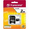 Original Transcend 2GB MicroSD Memory Card + SD Adapter (TS2GUSD)