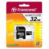 Original Transcend Class 4 32GB MicroSDHC Memory Card + SD Adapter (TS32GUSDHC4)