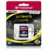 Original Transcend Ultimate Class 10 64GB SDXC Memory Card (TS64GSDXC10)