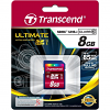 Original Transcend Ultimate Class 10 8GB SDHC Memory Card (TS8GSDHC10U1)