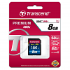Original Transcend Class 10 8GB SDHC Memory Card (TS8GSDU1)