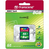 Original Transcend Class 4 8GB SDHC Memory Card (TS8GSDHC4)