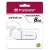 Original Transcend JetFlash 330 White / Purple 8GB USB 2.0 Flash Drive (TS8GJF330)