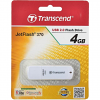 Original Transcend JetFlash 370 White 4GB USB 2.0 Flash Drive (TS4GJF370)
