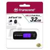 Original Transcend JetFlash 500 Purple 32GB USB 2.0 Flash Drive (TS32GJF500)
