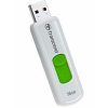 Original Transcend JetFlash 530 White / Green 16GB USB 2.0 Flash Drive (TS16GJF530)
