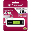 Original Transcend JetFlash 760 Black / Green 16GB USB 3.0 Flash Drive (TS16GJF760)