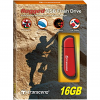 Original Transcend JetFlash V70 Rugged Red Shockproof 16GB USB 2.0 Flash Drive (TS16GJFV70)