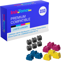 Compatible Xerox 108R006 CMYK Multipack x 3 Plus Three Extra Black Solid Ink (108R00672/69/70/71)