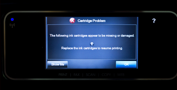 HP Firmware Update for Cartridge Problem error message