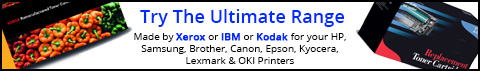 Try IBM Cartridges made for your HP Printer