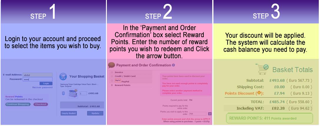 use rewards at inkntoneruk
