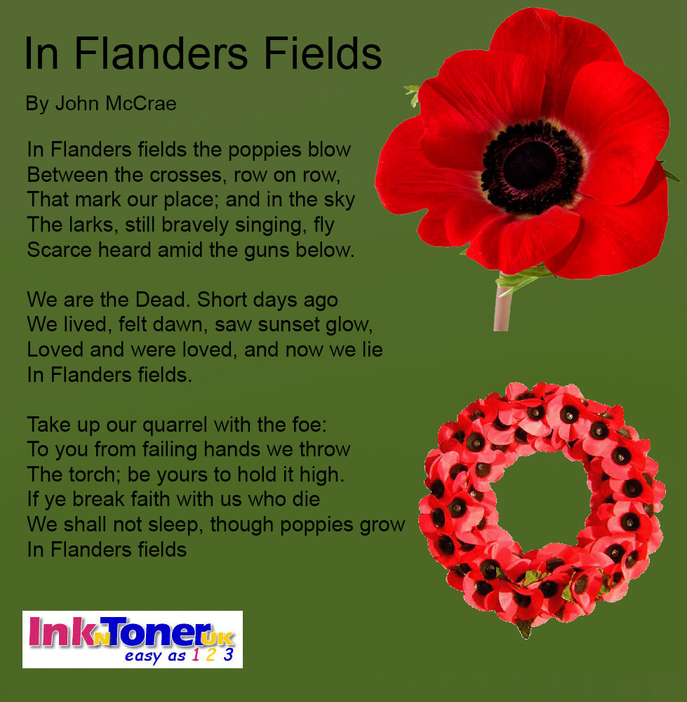 In Flander's Fields Printable