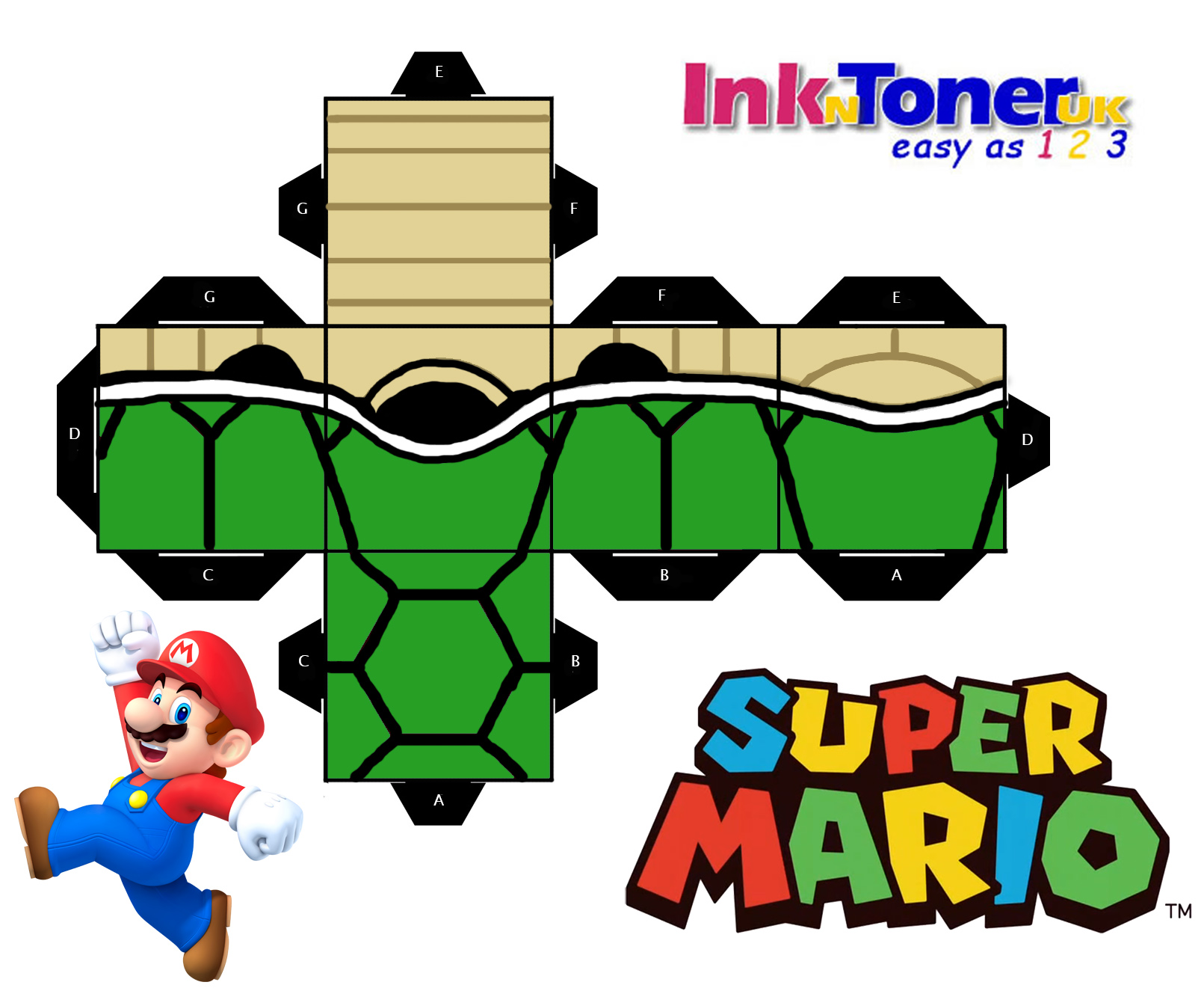 photograph about Printable Paper Craft titled Print your personal Tremendous Mario Papercraft! Inkntoneruk Weblog