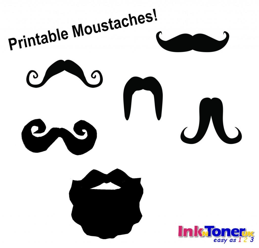 Printable Moustaches InknTonerUK