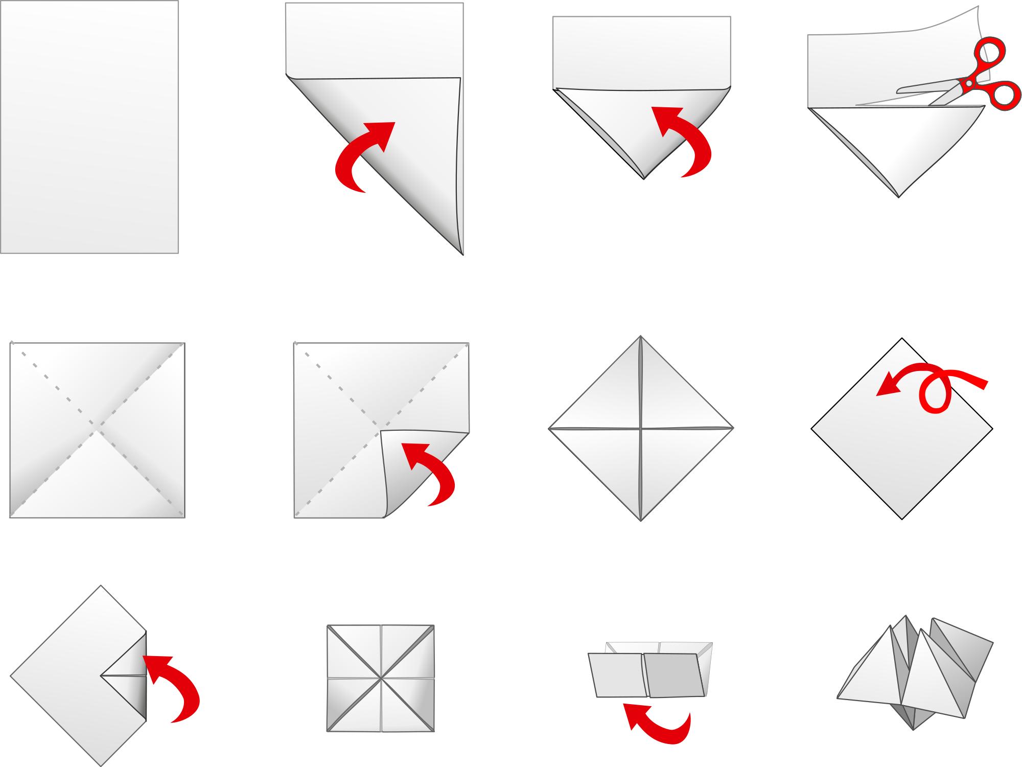 Как сделать чего-нибудь из бумаги красивое