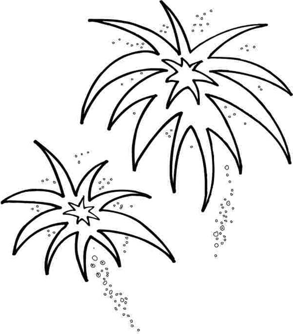 Fireworks-Blooming-in-the-Sky-Coloring-Page
