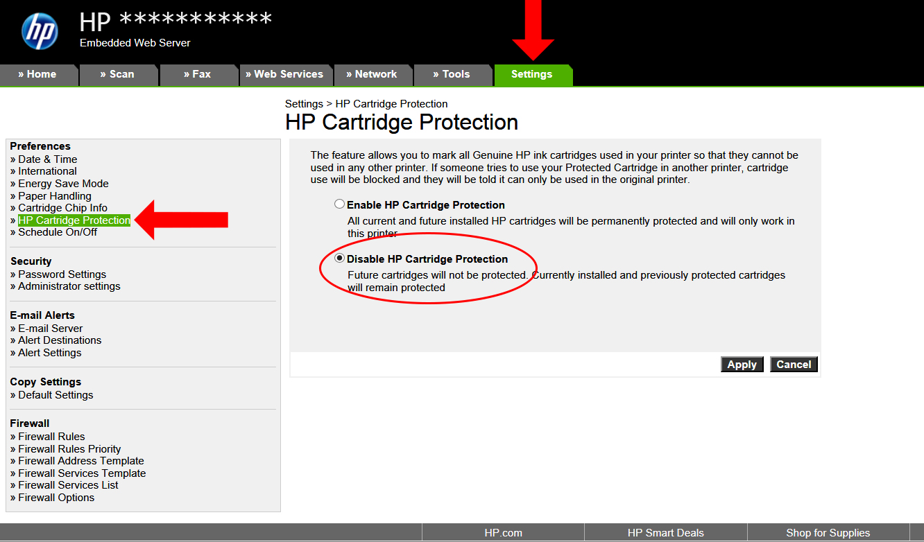 How to disable HP Cartridge Protection | Inkntoneruk Blog