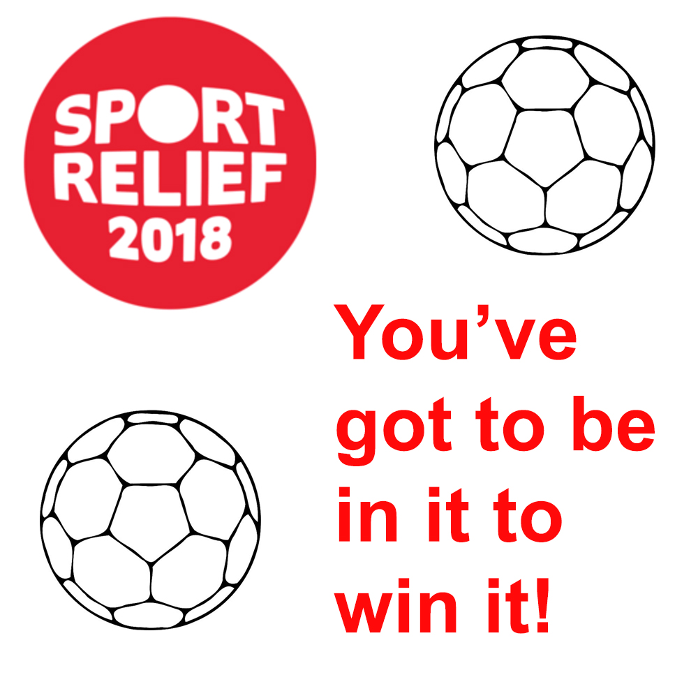 sports relief custom card